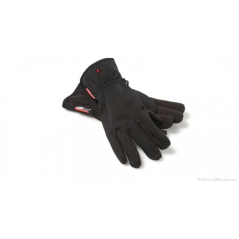 Man Softshell Gloves Nero Uomo