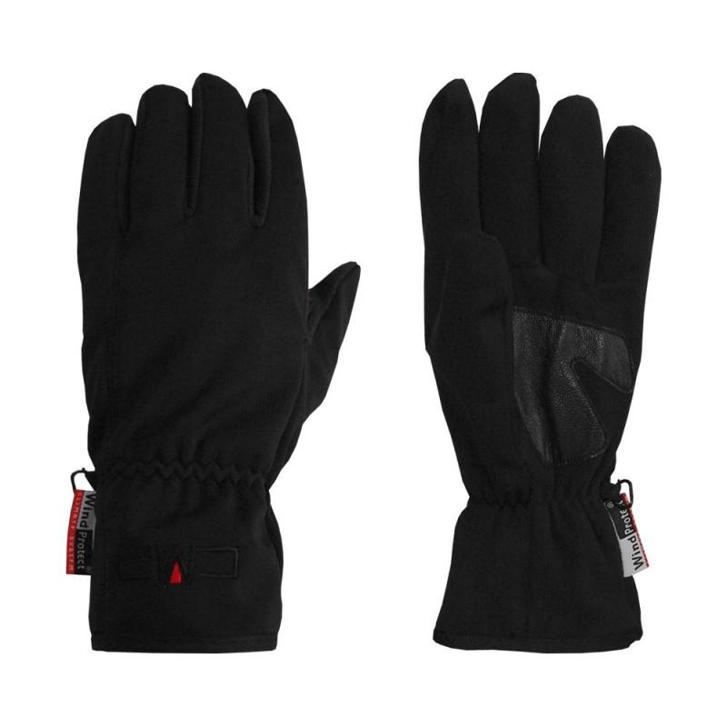 Woman Softshell Gloves Nero Donna