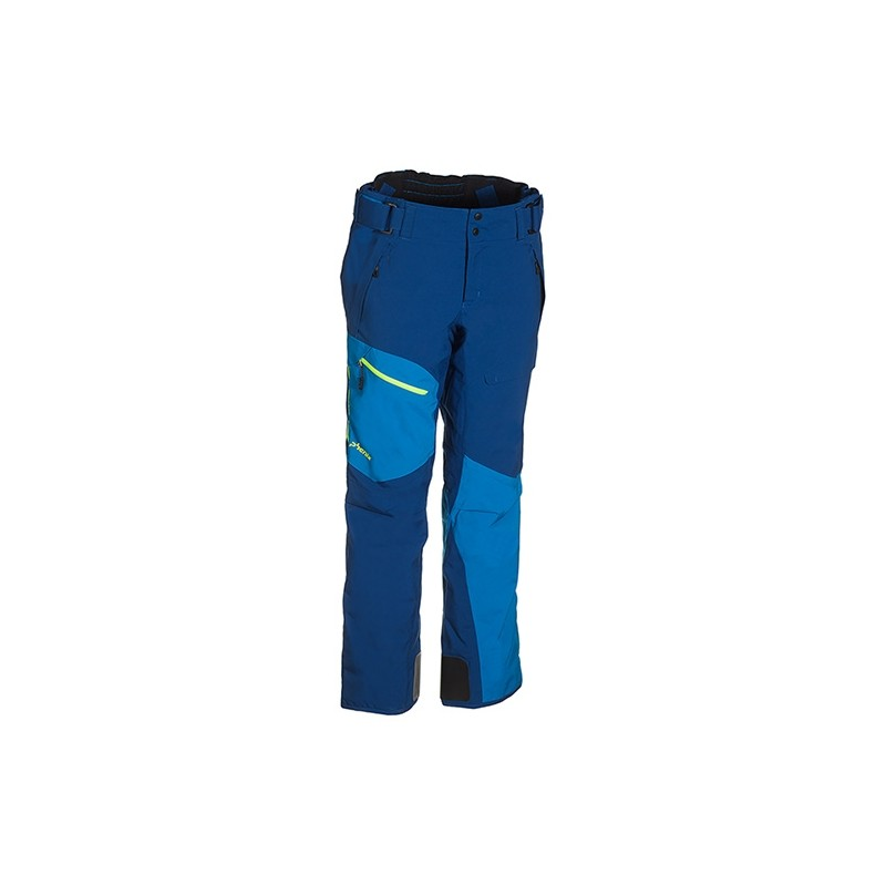 Mush Ii Pants Azzurro Tasconi Zip Giallo Fluo Uomo