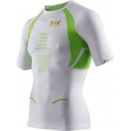 X-Bionic Running Speed The Trick T-Shirt M/M White/Lime Uomo