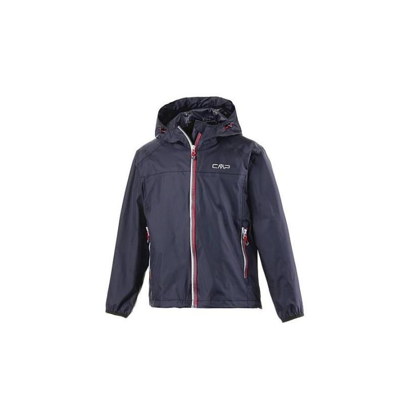 Cmp Boy Fix Hood Rain Jacket K-Way Blu Junior