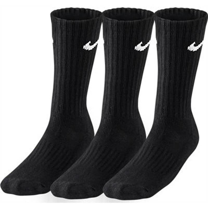 Nike 3Ppk Value Cotton Crew Pacco 3 Calze 1/2 Polpaccio Nere