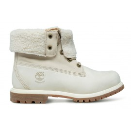 Timberland Auth Teddy Flce Of Off White Boot Int Lana Panna Donna