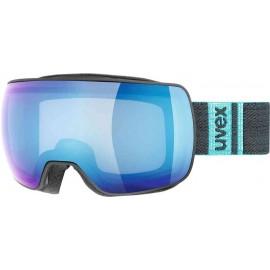 Uvex Compact Nero Opaco Lente Specchio Blu