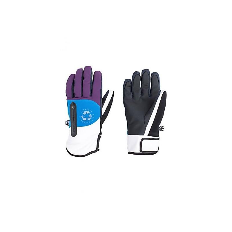 Kakisa Guanto Ecopelle/Nylon Viola/Azzurro/Bianco Donna