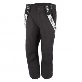 Man Ski Pant Salopette Sci Stretch Nero Uomo