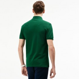 Polo Pique M/M Slim Verde Prato Uomo