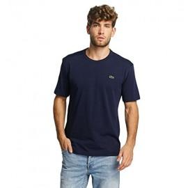 Lacoste T-Shirt M/M Girocollo Cotone/Poliestere Blu Mar. Uomo