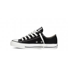 Converse All Star Ox Black Bassa Tela Nera Donna
