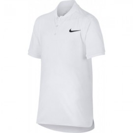 Nike Court Advant Polo Tennis Collo Coreano Bianca Junior Bimbo