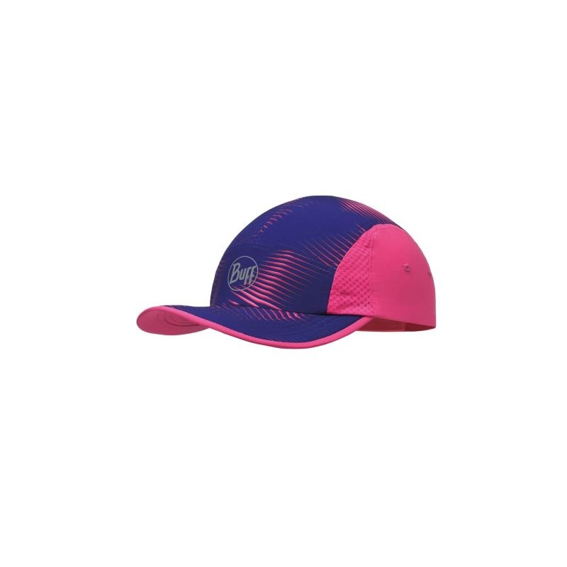 Run Cap Viola-Rosa Righe