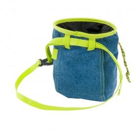 Bluej Sacchetto Porta Magnesite Tessuto Denim Blu