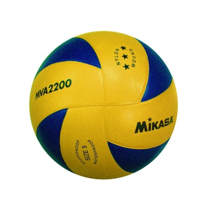 Pallone Volley Gomma Economico Giallo/Blu