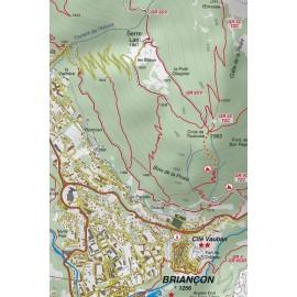 Cartina Briancon Vallee De La Guisane Vallee De La Claree
