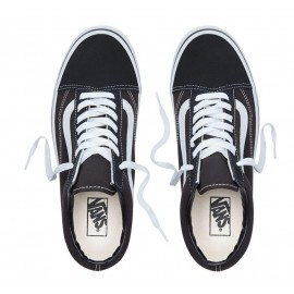 Old Skool Black/White Scamosciata/Nylon