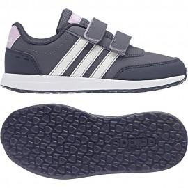 Vs Switch 2 Cmf C Scarpa Velcro Grigio/Blu Scuro/Rosa Bambina