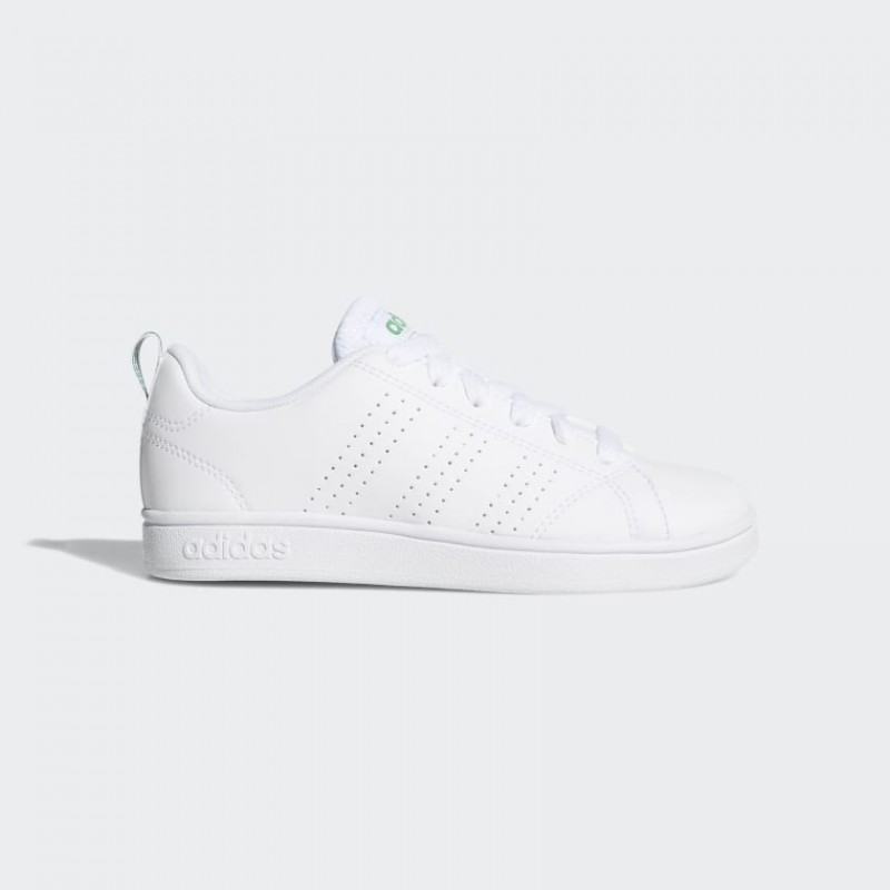 Adidas Junior Vs Advantage Clean Wht/Wht/Green Bian Profili Verdi Junior Bimbo