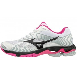 Wave Bolt 7 Scarpa Volley Bianco/Nero/Fuchsia Donna