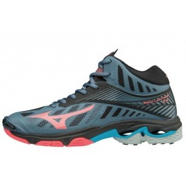 Wave Lightning Z4 Mid Scarpa Volley Alta Antracite/Corallo Donna