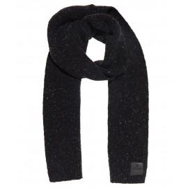 Surplus Goods Tweed Scarf Sciarpa In Maglia Nero Melange