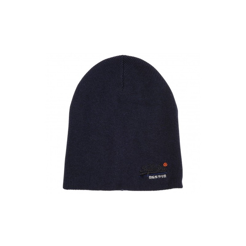 Orange Label Beanie Berretto Costine Blu Scuro