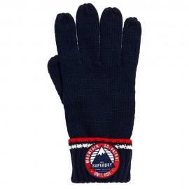 Oslo Racer Glove Guanti In Maglia Blu Scuro