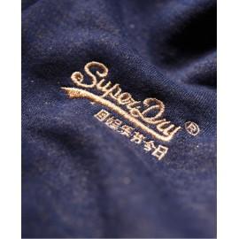 Sprkle Borg Felpa Capp. Zip Blu Scuro Glitter Oro Donna