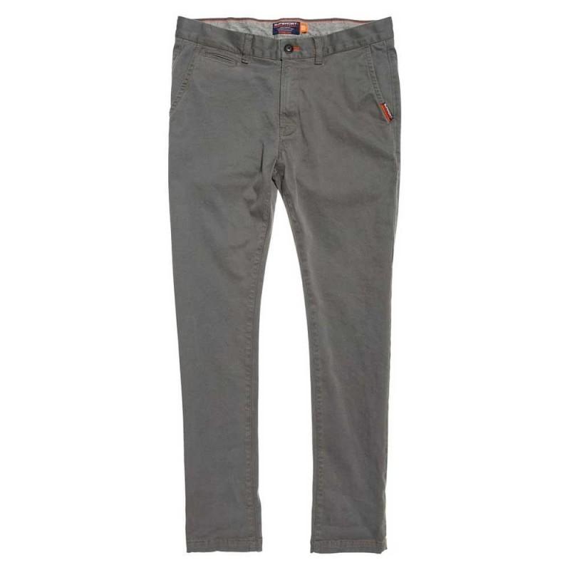 International Slim Chino Jeans Grigio Acciaio Uomo
