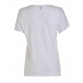 T-Shirt M/M Bianca Logo Grande Nero/Arg Donna