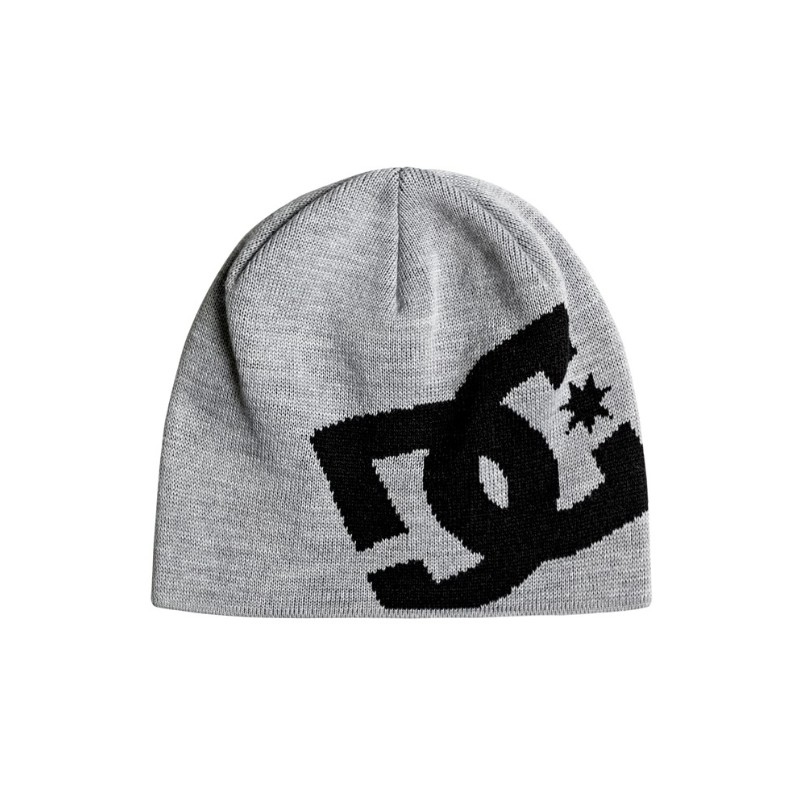 Big Star Boy Beanie Berretto Grigio Mel. Logo Nero Junior