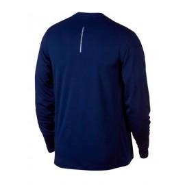 M Nk Pacer Top Crew T-Shirt M/L Running Blu Uomo