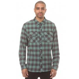 All Day Flannel Ls Camicia Flanella Scozzese Verde Uomo