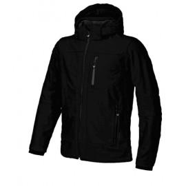 Man Zip Hood Jacket Softshell Zip Capp Stacc Nero Uomo