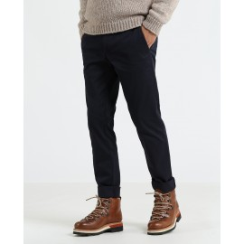 Slim Chino Pantalone Blu Uomo