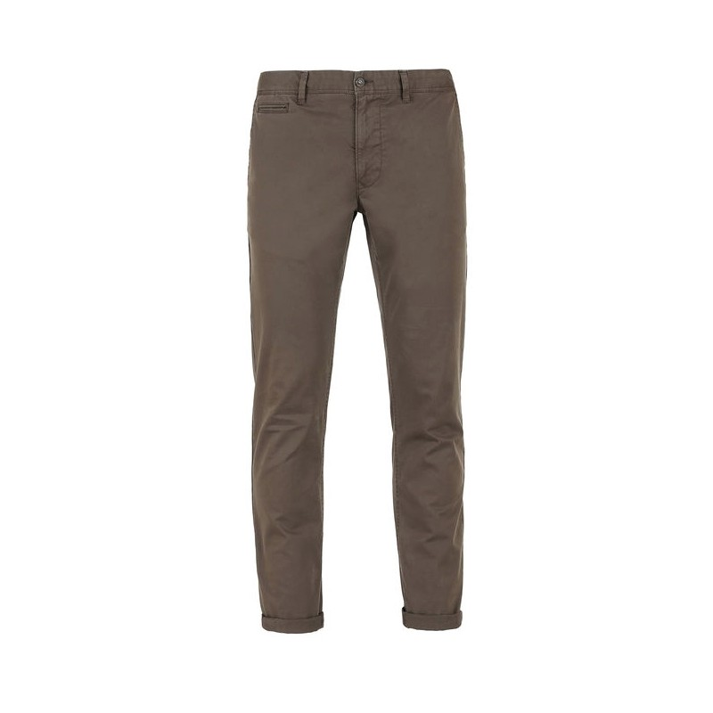 Slim Chino Pantalone Marrone Uomo