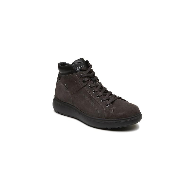 Sneaker Alta Lacci/Zip Scamosciato Gore-Tex Grigio Uomo