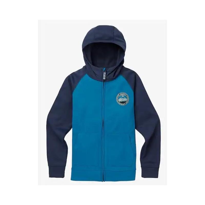 Boys Crown Bnd Fz Softshell Zip Capp Azzurro/Blu Junior Bimbo
