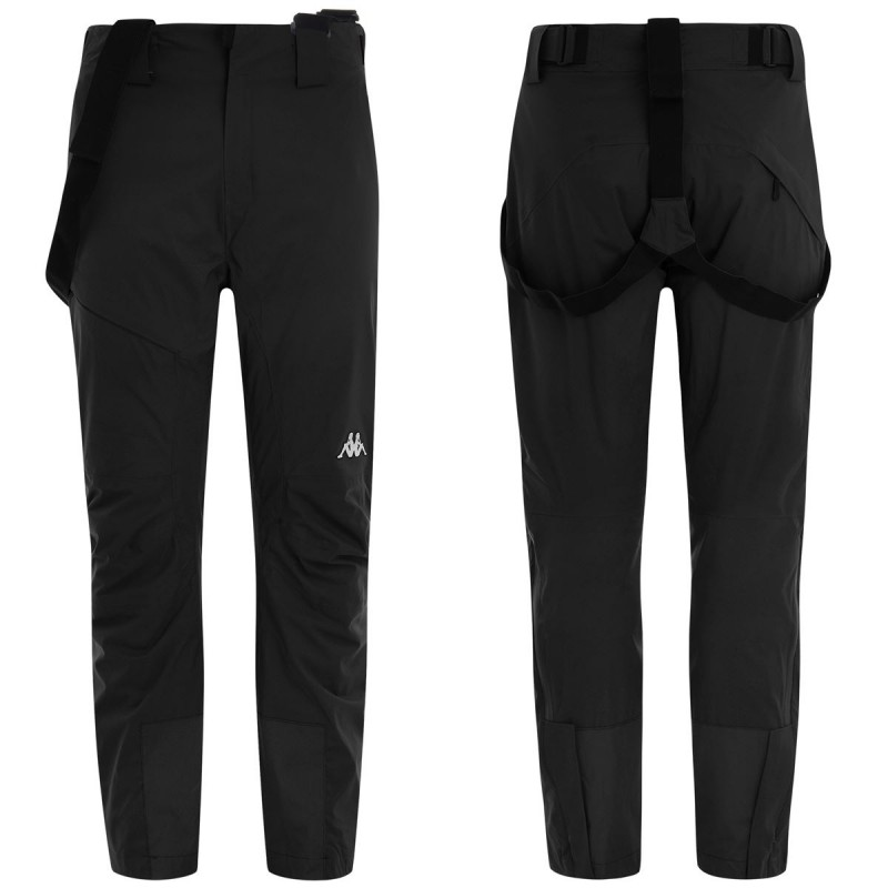 Kappa 6Cento 622A Full Zip Pantalone Zip Nero Uomo