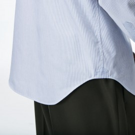 Lacoste Camicia Regular Fit Millerighe Azzurre Uomo