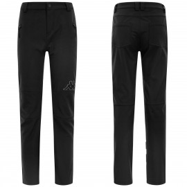 Kappa 6Cento 649 Black Total Pantalone Sci Stretch Nero Uomo
