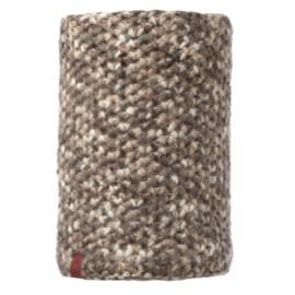 Buff Knitted & Polar Neckwarmer Margo Brown Taupe Maglia