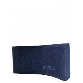 Man Fleece Headband Fascetta Pile Sagomata Grigia Scura