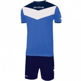 Kit Campo Completo Calcio Blu/Azzurro Uomo