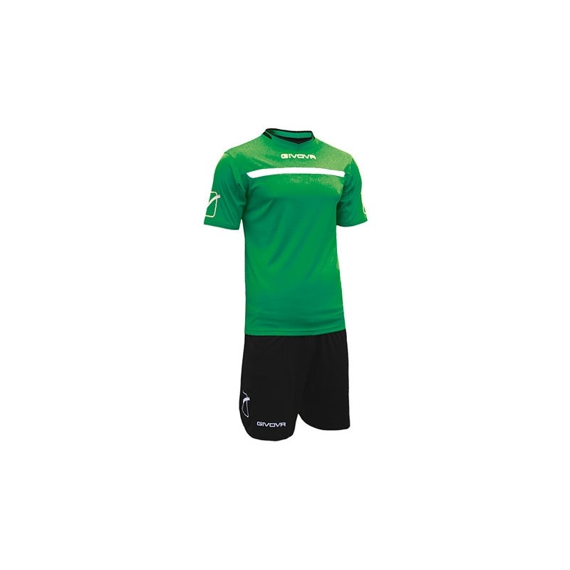 Kit One Completo Calcio Nero/Verde Uomo