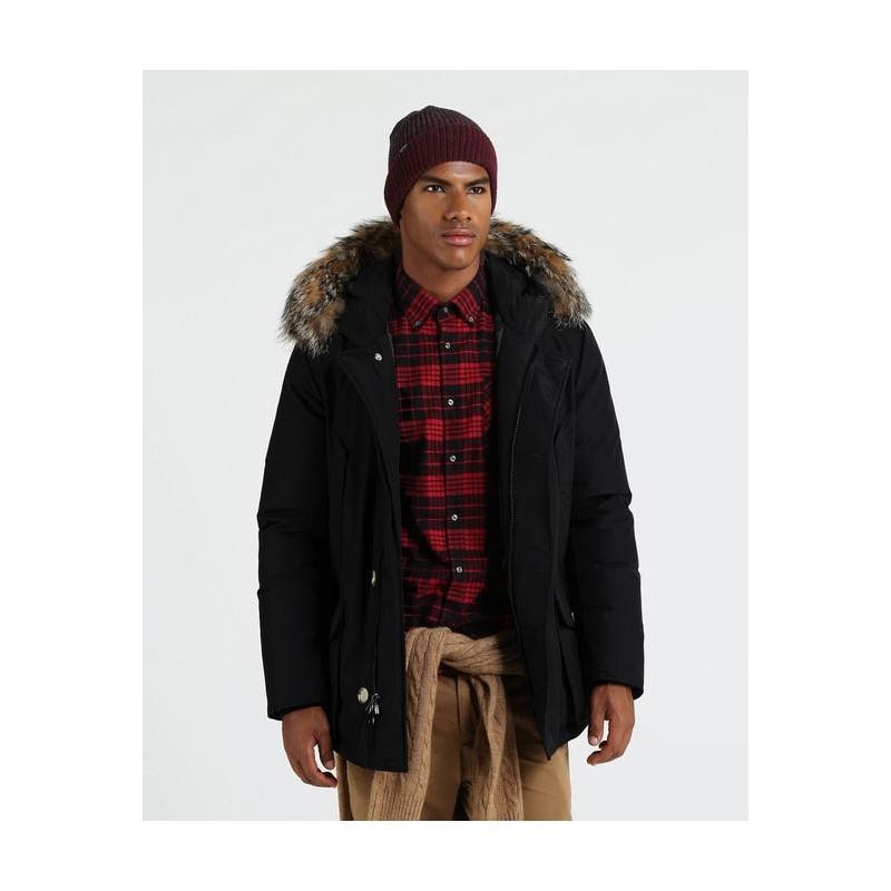 Woolrich Arctic Anorak Pelo Nero Uomo - Giuglar Shop