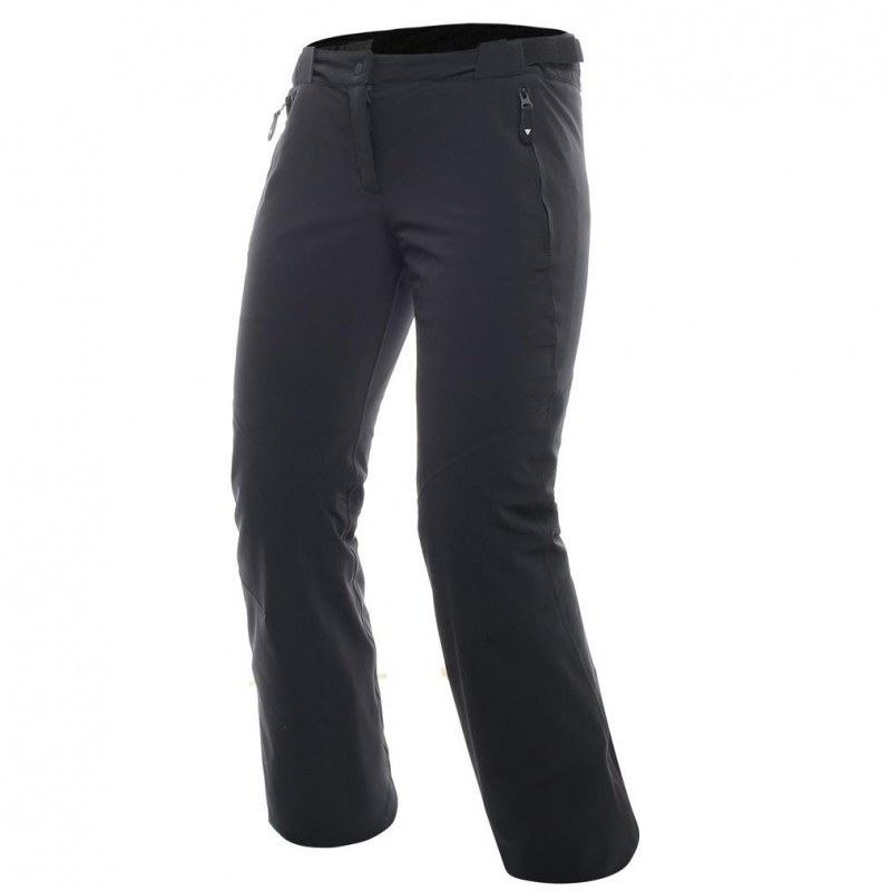 Hp2Pl1 Pantalone Sci C/Bretelle Stretch Nero Donna