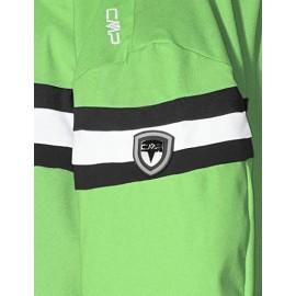Cmp Giacca Sci Verde Banda Petto Bia/Nera Stretch Junior Bimbo