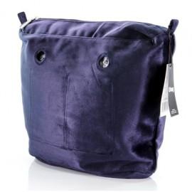 Full Spot Sacca Interna Zip O Bag Tessuto Microfibra Tinta Unita Blu
