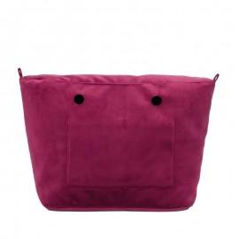 Full Spot Sacca Interna Zip O Bag Tessuto Microfibr Tinta Unita Bordeaux