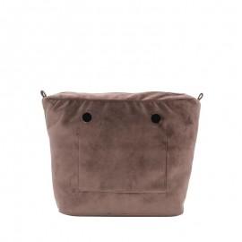 Full Spot Sacca Interna Zip O Bag Mini Tess Microfibra T. Unita Cioccolato